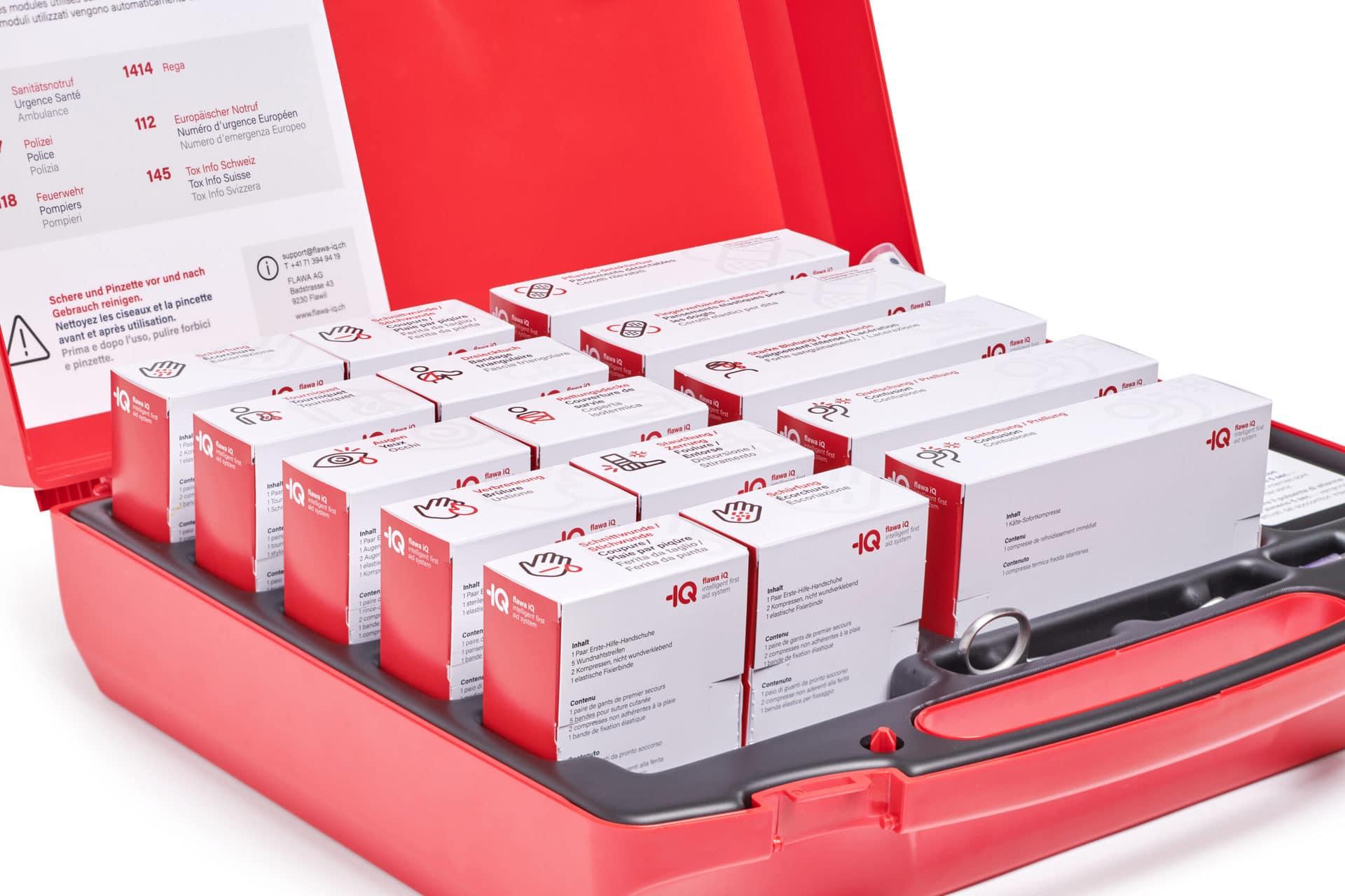 digitaler Erste-Hilfe-Koffer bestellt automatisch nach & ist immer vollständig